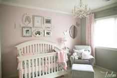 Soft and Elegant Gray and Pink Nursery - Project Nursery Baby Bedroom, Baby Room Decor, Nursery Room, Girl Nursery, Nursery Decor, Nursery Ideas, Bedroom Ideas, Baby Rooms, Nursery Themes
