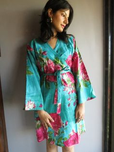 Knee length Robe Style Made From E7  Fabric Pattern