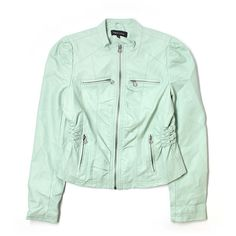 Pre-owned New Look Faux Leather Jacket Size 12: Light Green Women's... (955 RUB) ❤ liked on Polyvore featuring outerwear, jackets, light green, green faux leather jacket, fake leather jacket, imitation leather jacket, new look jackets and synthetic leather jacket