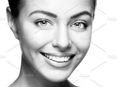 smiling beautiful woman by sport&beauty stock photo on @creativemarket