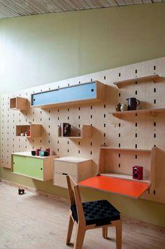Adding color to shelves