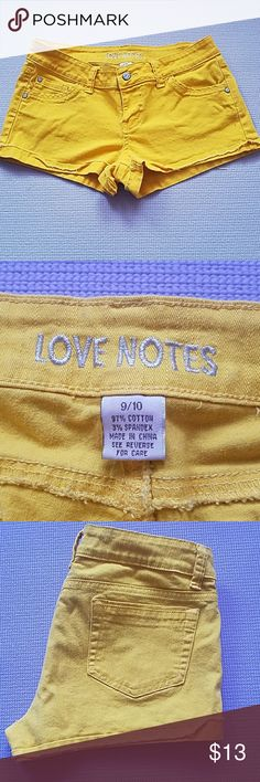Yellow juniors shorts Yellow juniors shorts. Has some stretch. Very comfy and cute! boutique Shorts