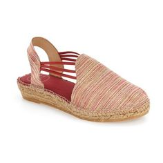 Women's Toni Pons 'Noa' Espadrille Sandal (2,475 MXN) ❤ liked on Polyvore featuring shoes, sandals, multi fabric, toni pons, sling back shoes, espadrilles shoes, slingback espadrilles and elastic shoes