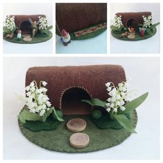 Lily of the Valley Hollow Log Cottage Playscape by MyBigWorld2015