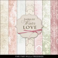 New Freebies Kit of Backgrounds - Winter Love:Far Far Hill - Free database of…