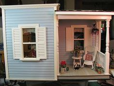 Dollhouse Miniature Furniture - Tutorials   1 inch minis: Pictures of Room Boxes