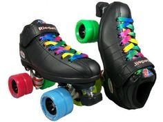 Riedell R3 Demon Rainbow Speed Skates - Black Demon Roller Derby Skate by Riedell. $139.00