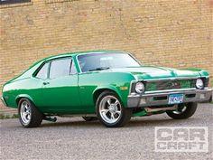 #Green 1970 Chevrolet Nova powered by a 454 small block