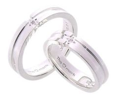 #LoveMarkPH Diamond Cross Silver Couple Ring: Made of 92.5% silver & 1 piece of 0.01ct diamond  [Item code lr0001]