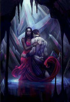 Interracial couple illustration #wmbw #bwwm