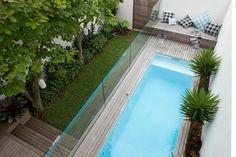 blog de decoração - Arquitrecos: Piscina estilosa para quintal estreito