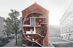 Mateusz Mastalski + Ole Robin Storjohann shared with us their 'Live Between Buildings!' proposal - Vi behøver ikke nødvendigvis lave en kasse