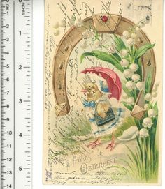 I love this because of the writing...one of my favorite things about postcards is that they were really used- people filled every available space before they mailed them. It really gives you a feel for the person who sent it...Antique Vintage 1905 German Chromo EASTER Postcard Cute Chick with Music Book