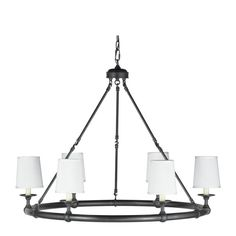 Devon 6-Light Chandelier with Shades, Oiled Bronze with or with out shades, this would also be a good choice for the fireplace area  36 inches in diameter