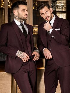 Mens Burgundy Suit from the Ventura Collection. This maroon suit is perfect for any wardrobe and comes in a 3 piece slim fit style. Current price is with free delivery. Enter NEWCUSTOMER at checkout to receive additional off. Costume Bordeaux, Costumes Slim, Maroon Suit, Burgandy Suit Men, Deep Burgundy, Black Suits, Traje Slim Fit, Men's Waistcoat, Tuxedo Wedding