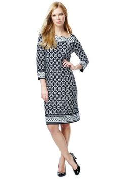 Slash Neck Celtic Border Shift Dress  Product Code: T420514    £39.50  A modern classic, shift dresses are always in style, taking inspiration from traditional themes and fashions. More Product Info