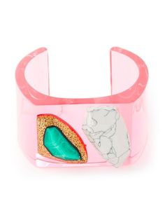Shop Stella McCartney 'Mixed Stones Plexi' bangle in Stefania Mode from the world's best independent boutiques at farfetch.com. Over 1000 designers from 300 boutiques in one website.