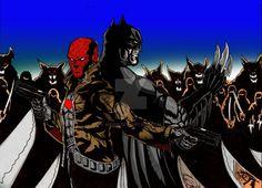 Red Hood Adn Batman Vs The League Of Assasin by nic011.deviantart.com on @DeviantArt