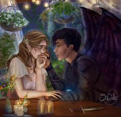 Elain and Azriel by SnCinder Still don't know how I feel about this ship