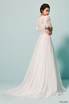 Wedding Inspirasi daalarna bridal 2015 pearl flutter cape sleeve metallic taupe colored wedding dress scalloped v back $339.99 Daalarna
