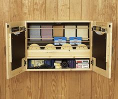 Sandpaper Cabinet, Storage Woodworking Plan, Shop Project Plan   WOOD Store