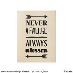 Never a failure always a lesson inspiration poster