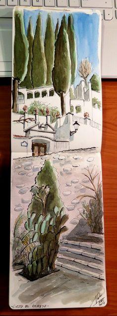 Urban Sketchers Spain. El mundo dibujo a dibujo.: Cuesta del Realejo