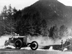 Christian Werner winning the 1924 Targa Florio in his Daimler AG Mercedes PP