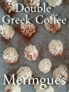 Happy International Coffee Day- Try these glamorous, simple Meringues!:http://www.blog.provocolate.com/2015/10/double-greek-coffee-meringues-for.html