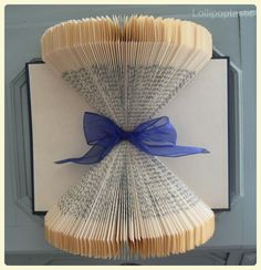 Hand-folded book art.