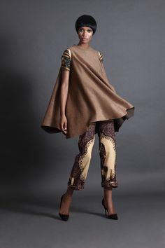 Wool Blend Tent Dress
