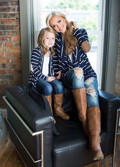 Cute outfit, and even cuter to match with my little girl!