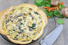 Well if this isn't one of the prettiest Vegan Quiches we've ever seen. Plus, the easy crust is made with tortillas!