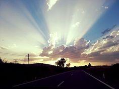Tras los rayos de sol