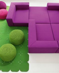 Paola Lenti, design: Francesco Rota - Modular seating system.