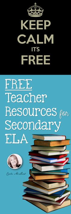 FREE lessons, ideas, back-to-school organization and more for high school and middle school English.