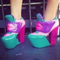 Crazy shoes.