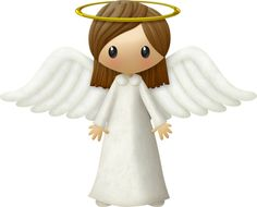Brown haired girl angel