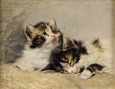 Julius Adam II (Alemania, 1852-1913). Two Kittens. Colección privada.