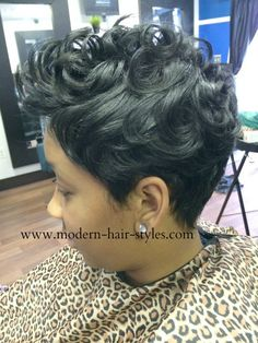 Pin Curls On Black Hair | Short Black Hairstyles, with Products and Tips to Maintain a Fresh ...