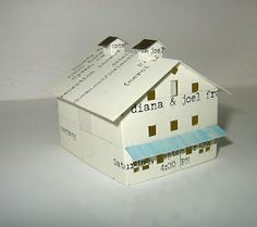 More Tiny Buildings — Wedding Chapel Three. Maryland  Made from a wedding invitation!