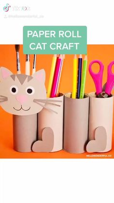 Animal Crafts For Kids, Craft Activities For Kids, Toddler Crafts, Preschool Crafts, Diy For Kids, Diy Crafts For Gifts, Cat Crafts, Creative Crafts, Back To School Crafts