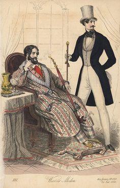 Gravure de mode de 1841