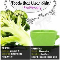 There is a definite link between poor eating habits and pimply, discoloured and dull skin. You are what you eat so eat your way to beautiful skin with a good skin diet. What foods to eat and avoid #ClearSkinDiy #SkinCareForOilySkin #ClearSkinDiet #ClearSkinFace Foods For Clear Skin, Clear Skin Detox, Clear Skin Face, Clear Skin Tips, Skincare For Oily Skin, Best Skin Care Routine, Vitamins For Skin, Dull Skin, Healthy Skin Care