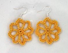 Flower Crochet Earrings   Woomen/Girl  Gift  Jewlery by CasaDeGato, $6.00