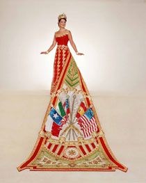 Fiesta ball gown