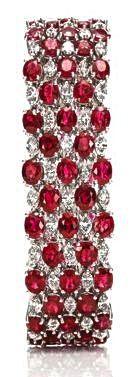 Harry Winston Ruby & Diamond Bracelet