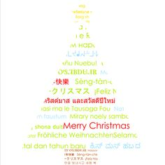Used memory mixer to create Merry Christmas tree in different languages.