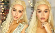 Items similar to Daenerys Targaryen Costume Wig / Blonde Lace Front Wig / Long Curly Braided Wavy Hair Khaleesi Game of Thrones Cosplay / Lady Series on Etsy Best Makeup Tutorials, Make Up Tutorials, Makeup Tutorials Youtube, Makeup Youtube, Hallowen Costume, Costume Wigs, Costume Makeup, Daenerys Targaryen Costume Halloween, Art Costume