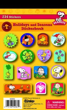 Eureka Peanuts Seasons and Holidays Stickers -- You can find more details by visiting the image link.